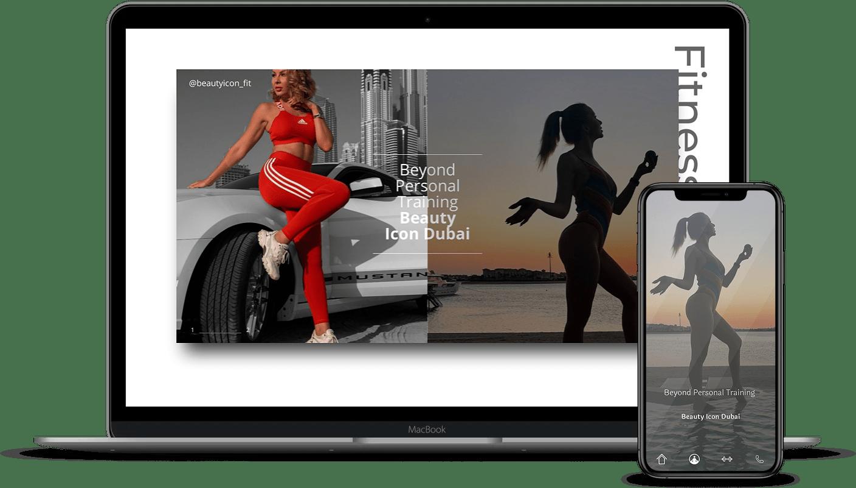imagen versión móvil y pc de beauty icon