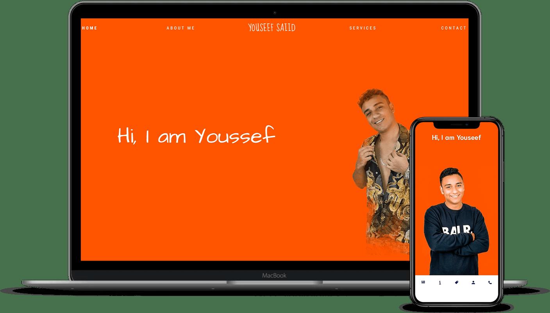 imagen versión móvil y pc de youssef